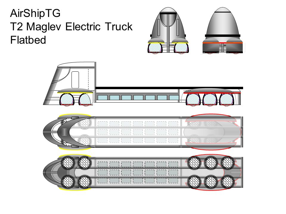 AirShipTG T2 Maglev Electric Truck Flatbed