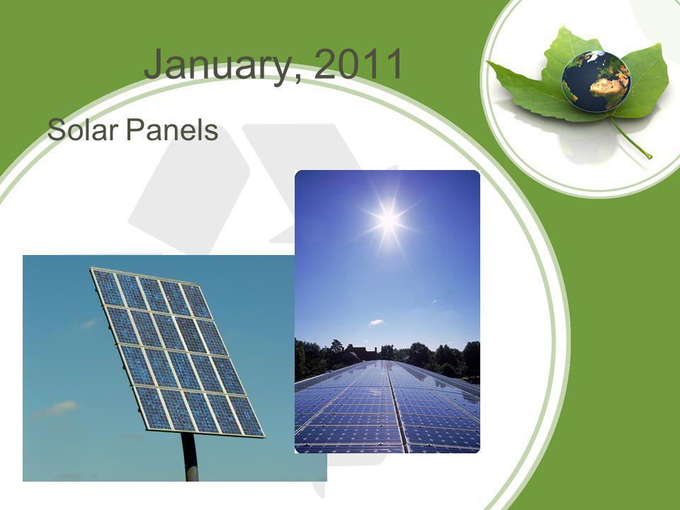 January, 2011 Solar Panels