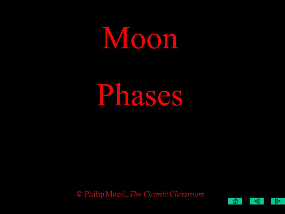 Moon Phases © Philip Mozel, The Cosmic Classroom
