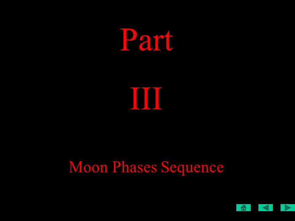 Part III Moon Phases Sequence