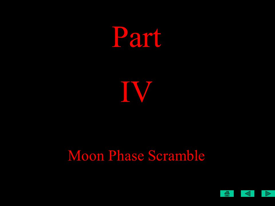 Part IV Moon Phase Scramble
