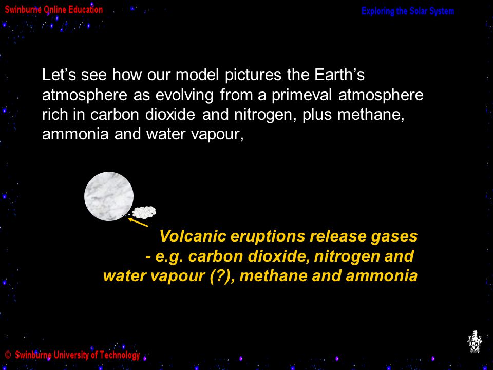 Volcanic eruptions release gases - e.g.