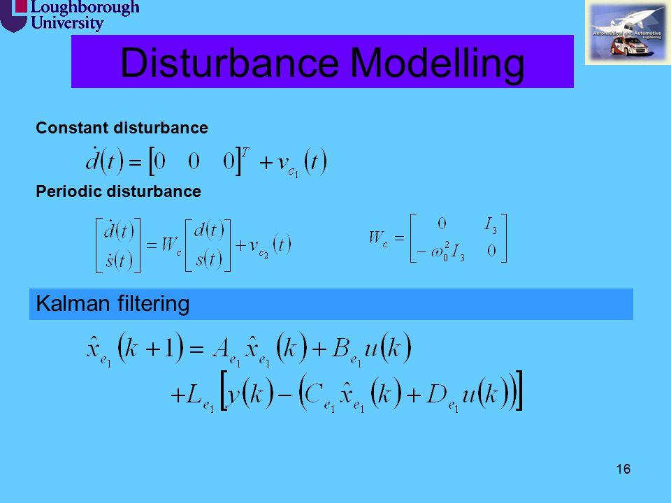 16 Disturbance Modelling Kalman filtering Constant disturbance Periodic disturbance