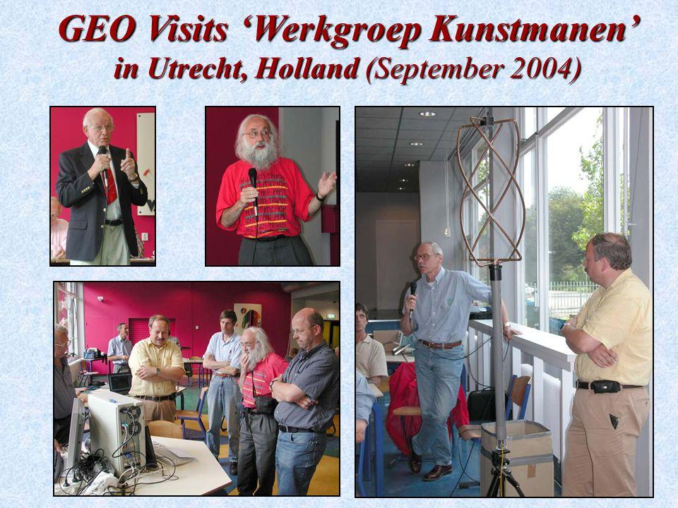 GEO Visits 'Werkgroep Kunstmanen' in Utrecht, Holland (September 2004)