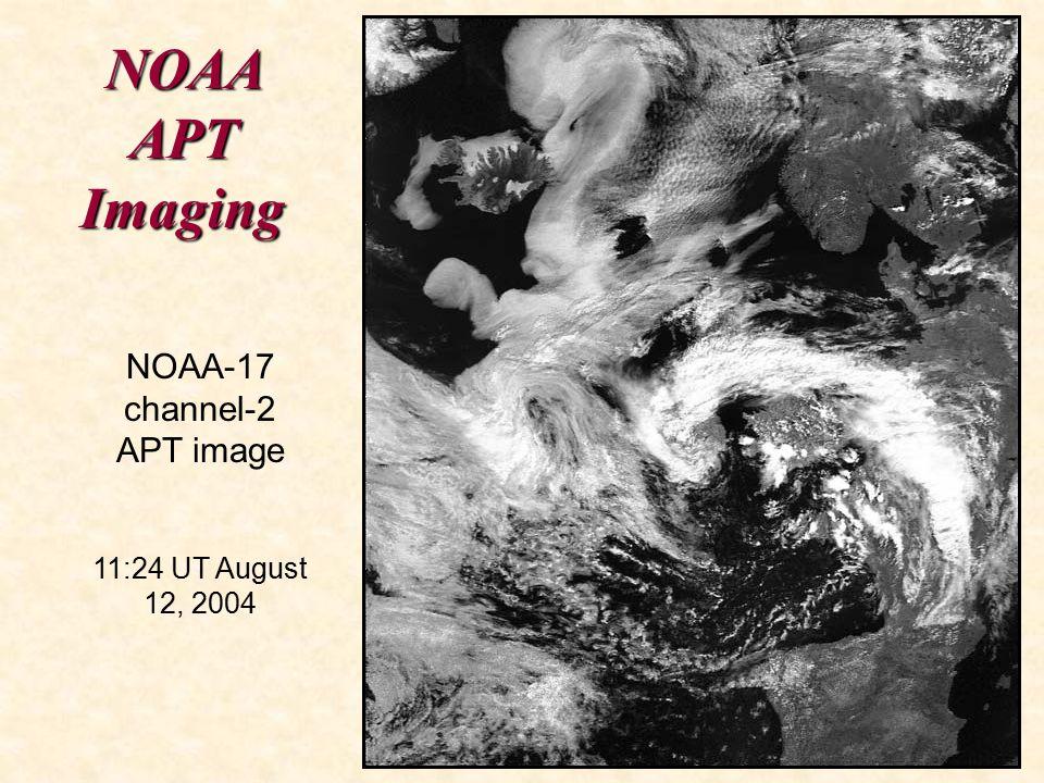 NOAA APT Imaging NOAA-17 channel-2 APT image 11:24 UT August 12, 2004