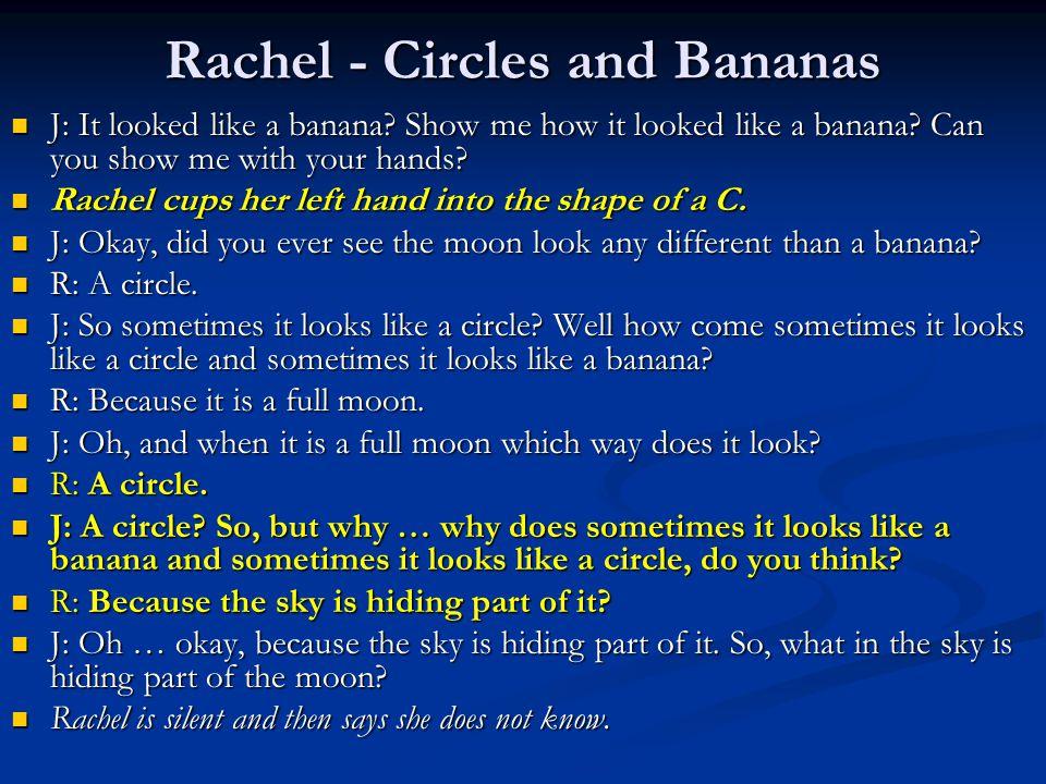 Rachel - Circles and Bananas J: It looked like a banana.