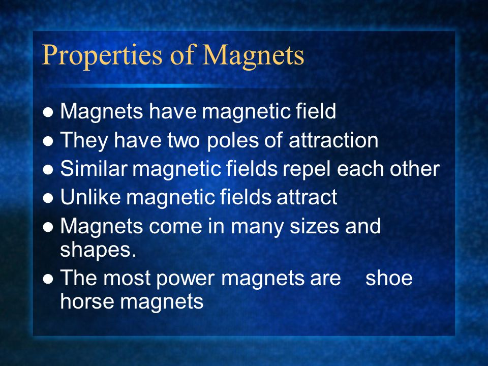 Magnets Use in Our Society Magnets can be natural There are also electromagnets The last ones are used in some industries They can be used also in transportation.