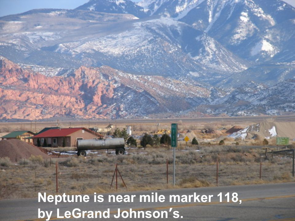 Neptune is near mile marker 118, by LeGrand Johnson ' s.