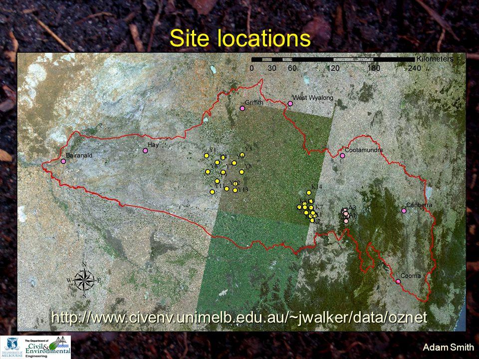 Adam Smith Site locations http://www.civenv.unimelb.edu.au/~jwalker/data/oznet