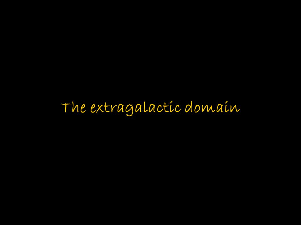 The extragalactic domain