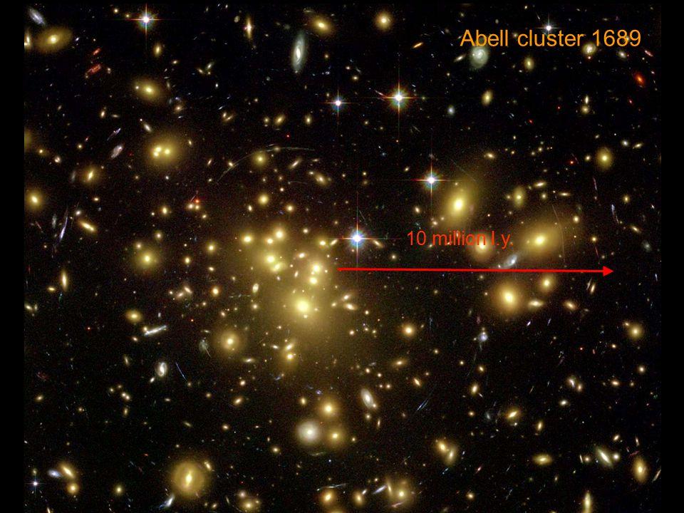 Abell cluster 1689 10 million l.y.