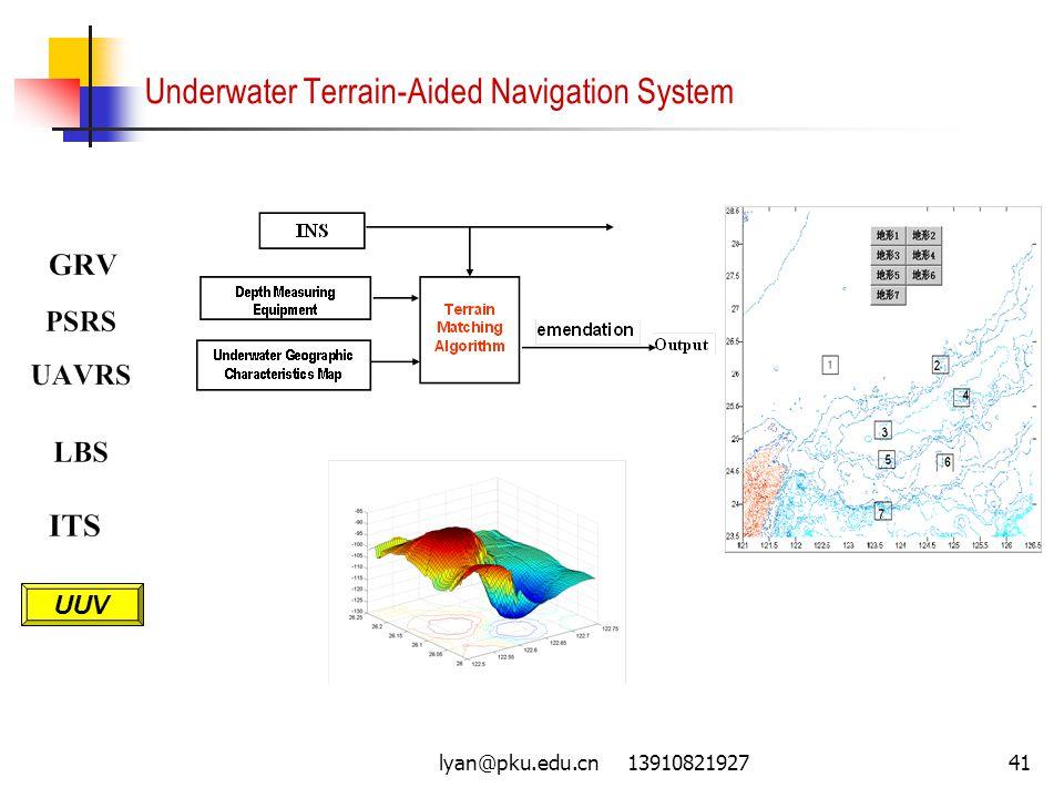 lyan@pku.edu.cn 1391082192741 Underwater Terrain-Aided Navigation System UUV