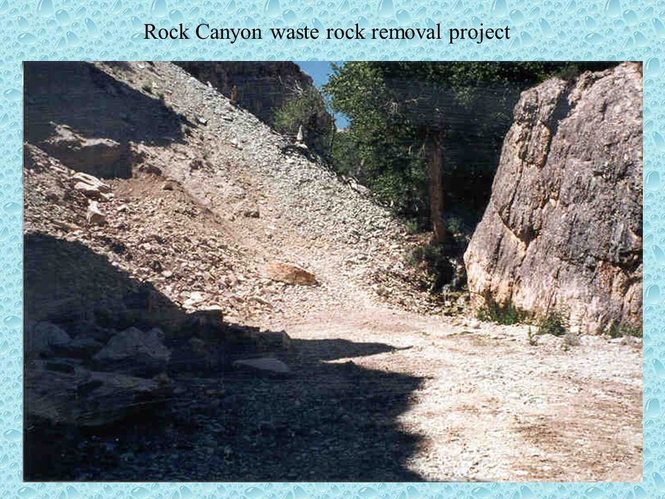 Earth Day Award Nomination Northern Stone Supply Turquoise Stone Quarry S/003/020 Presented by Lynn Kunzler Senior Reclamation Biologist