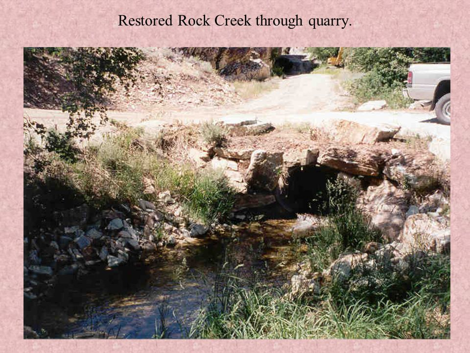 Lower Rock Canyon – After waste rock removal