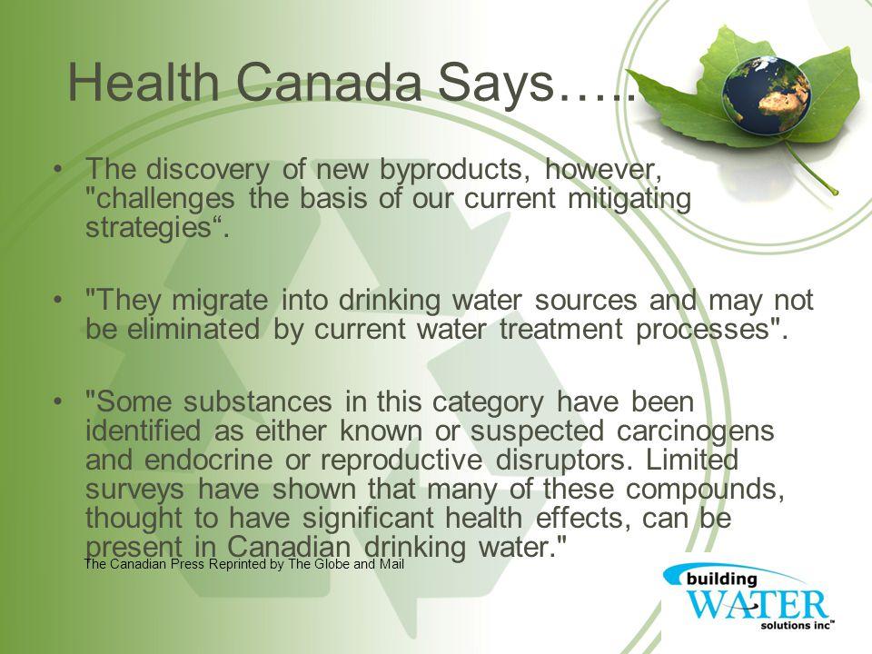 Health Canada Says…..
