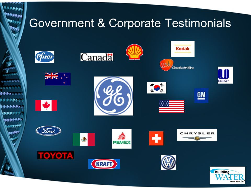 Government & Corporate Testimonials