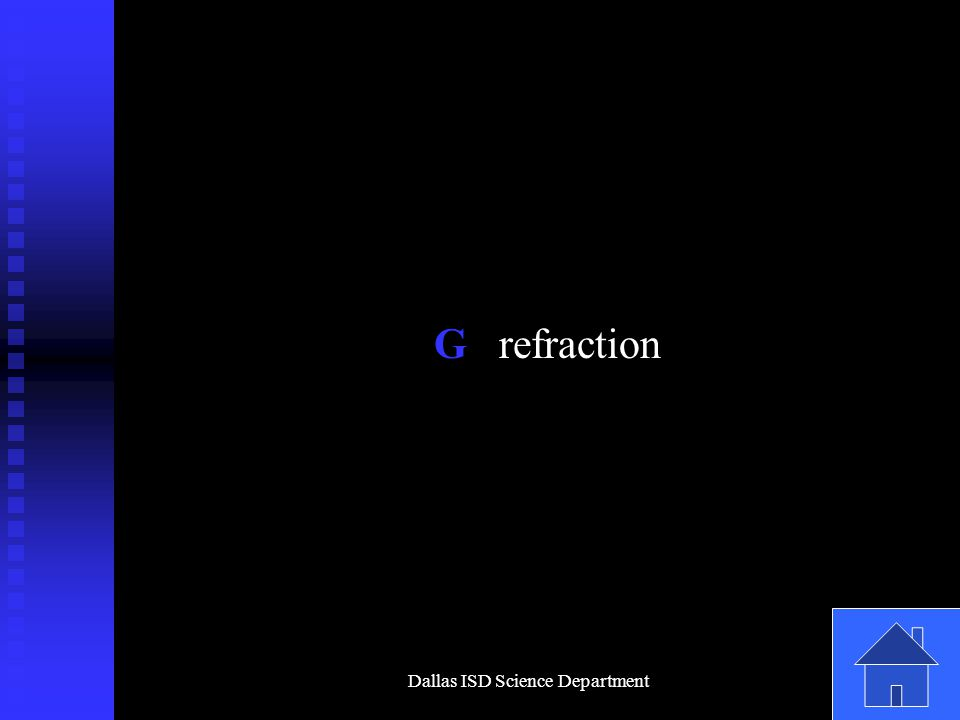 Dallas ISD Science Department G refraction