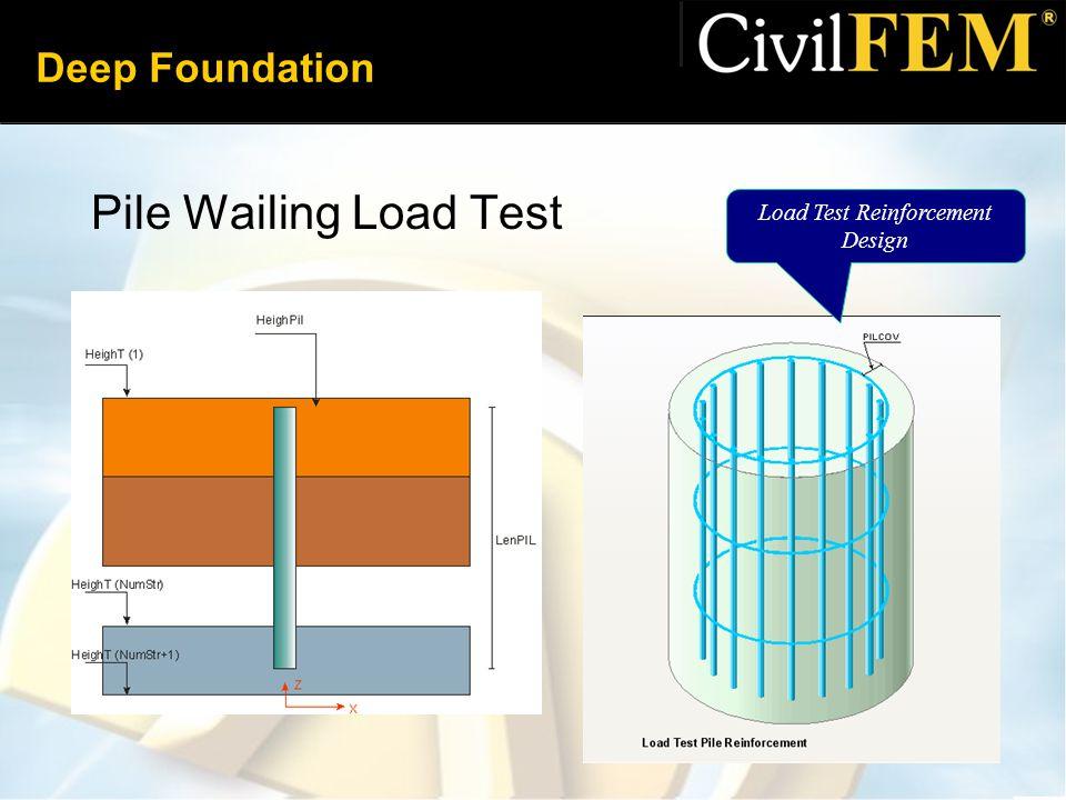 Deep Foundation Pile Wailing Load Test Load Test Reinforcement Design