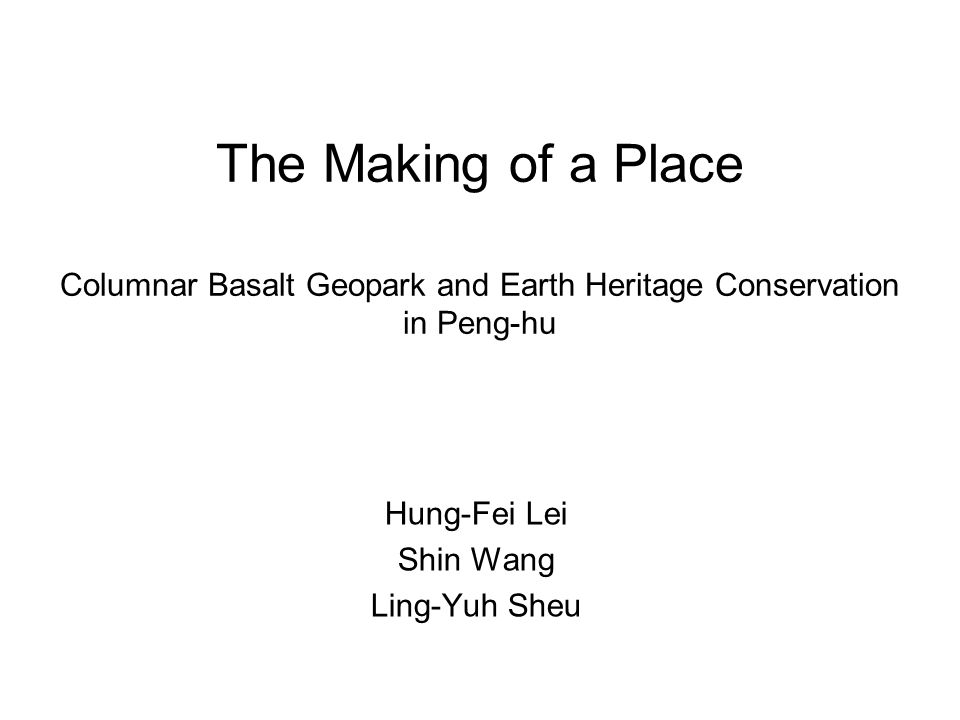 Two Objectives Evaluating the aesthetic qualities of the landscape in Peng-hu Linking landscape evaluation with designation and management in Penghu