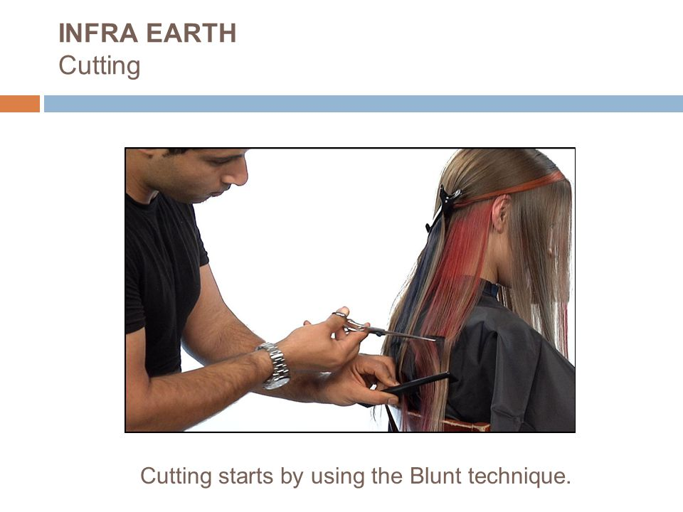 Cutting starts by using the Blunt technique. INFRA EARTH Cutting