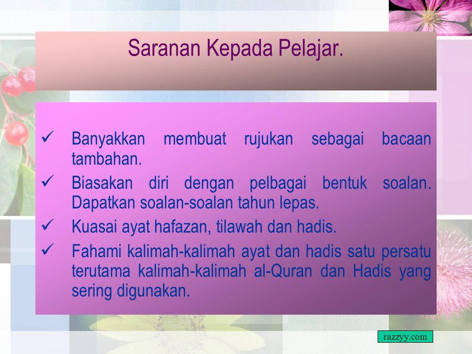 33.Tajuk-tajuk popular dalam sirah. i. Sebab-sebab Rasulullah S.A.W berdakwah secara sulit pada peringkat permulaan Islam (1999/2004) ii. Cara-cara be
