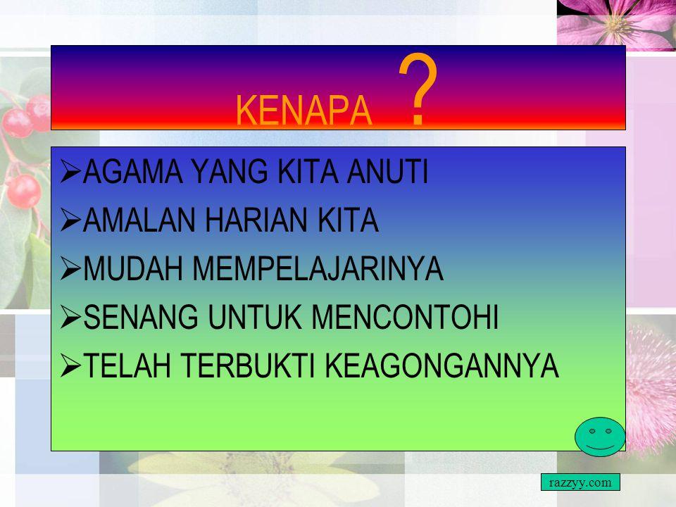 KENALILAH MATA PELAJARAN PENDIDIKAN ISLAM SUBJEK YANG PALING MUDAH UNTUK BERJAYA razzyy.com