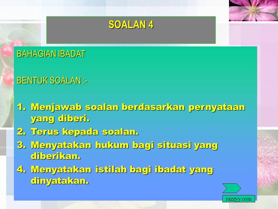 b) BAHAGIAN MENYUSUN AYAT HAFAZAN BENTUK SOALAN :- BENTUK SOALAN :- 1.Menyusun semula potongan ayat al quran mengikut tertib seperti dalam al quran. r