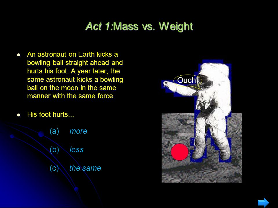 Gravity : Mass vs Weight What is the force of gravity exerted by the earth on a typical physics student? What is the force of gravity exerted by the e