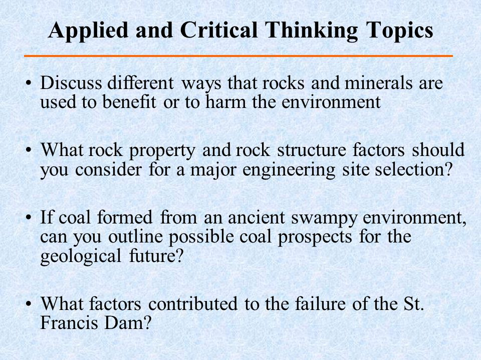 Discuss different ways that rocks and minerals are used to benefit or to harm the environment What rock property and rock structure factors should you