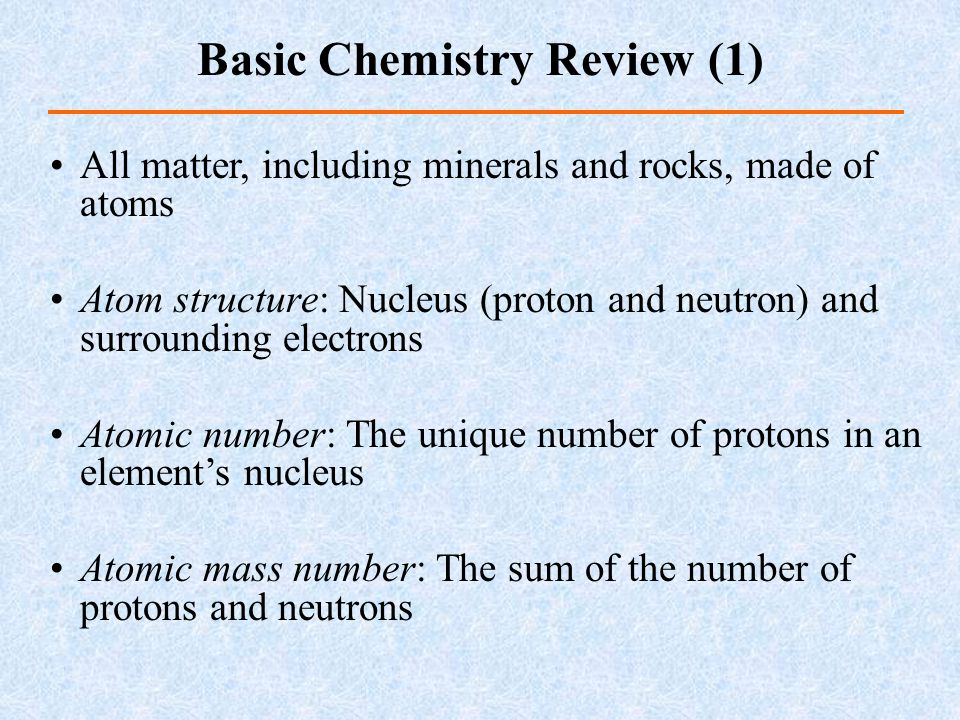 Ion: Charged atom particles, reactions between different types of atoms Isotopes: Atoms of the same element with varied number of neutrons Chemical bonding  Ionic bonds  Covalent bonds  Metallic bonds  van der Waals bond Basic Chemistry Review (2)