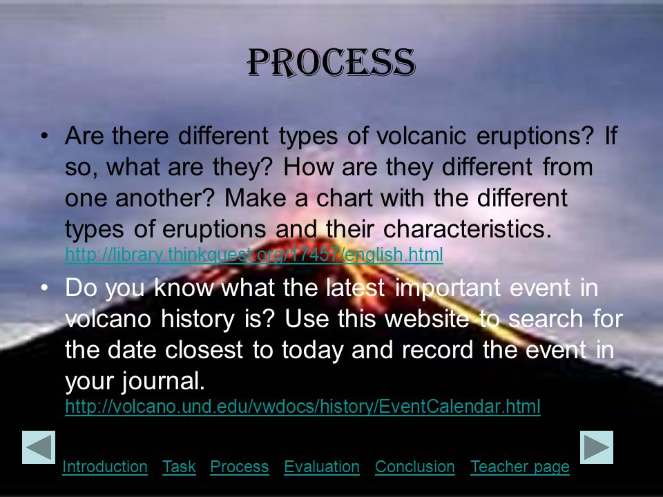 Process Where are some volcanoes located in the United States of America.
