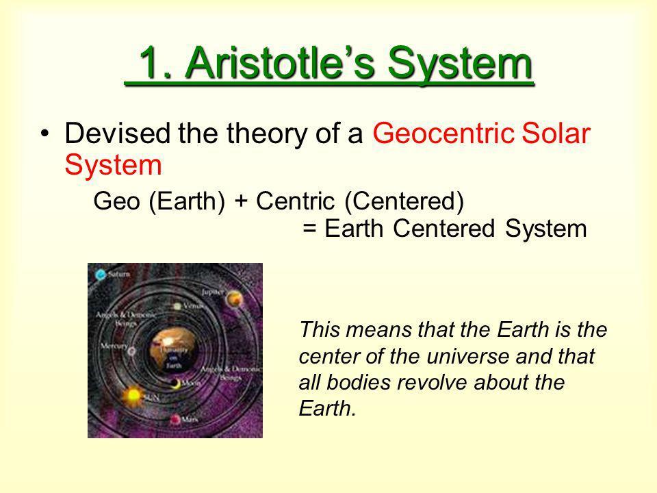 1. Aristotle's System 1.