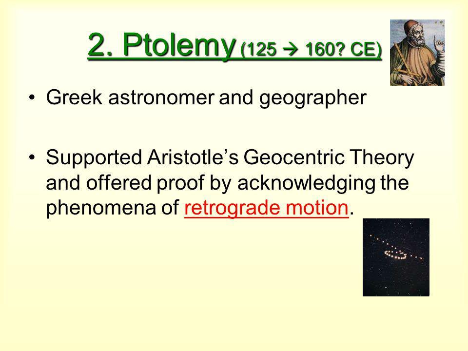 2. Ptolemy (125  160.