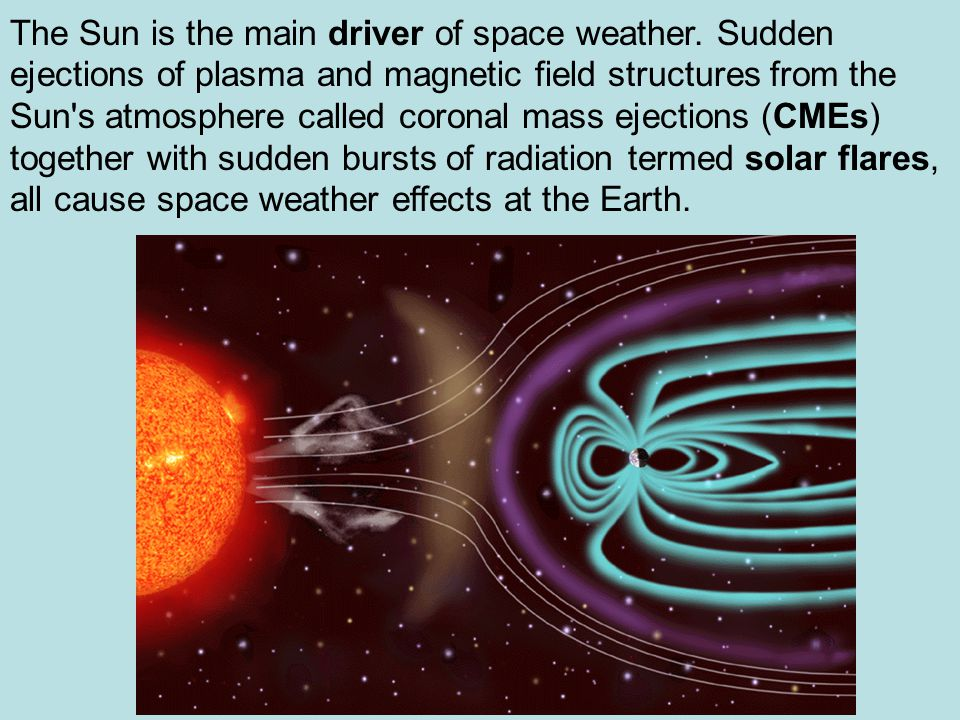 The Sun is the main driver of space weather.