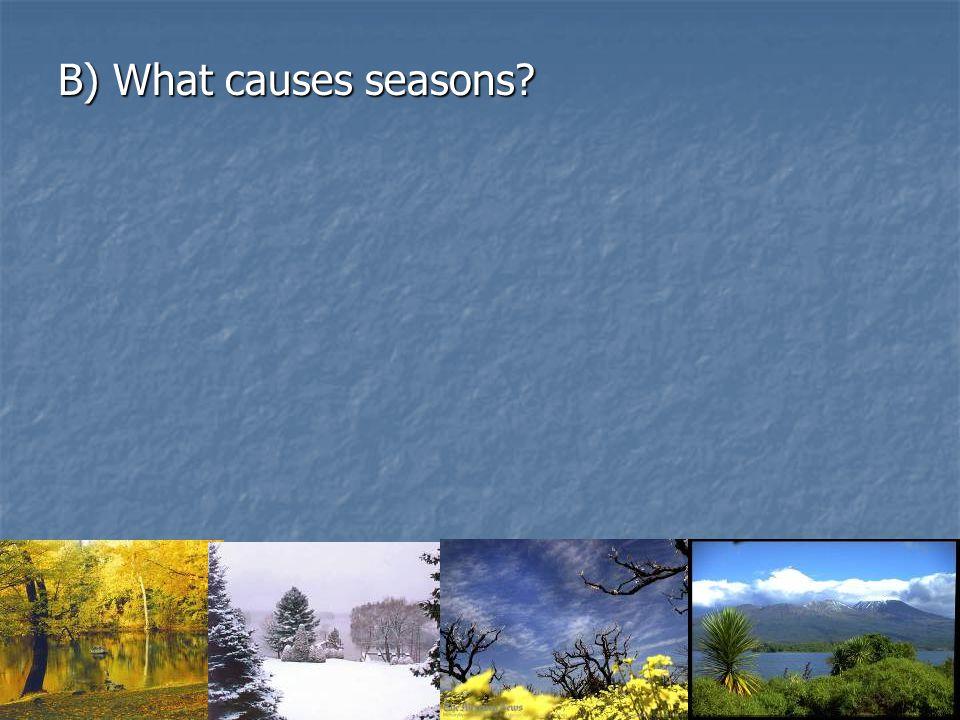 B) What causes seasons?