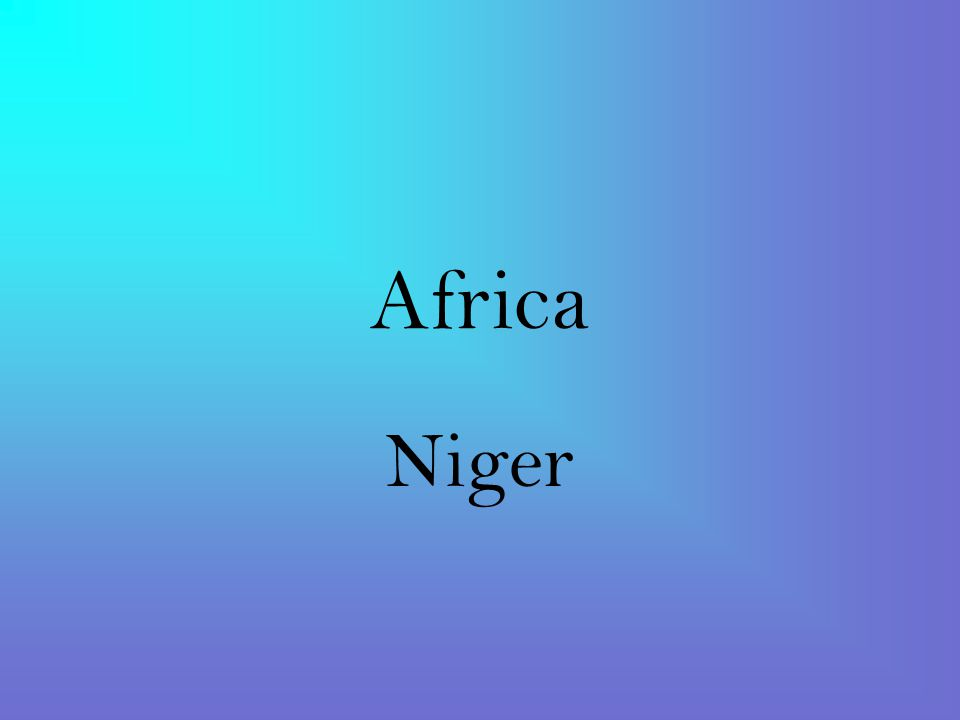 Africa Niger