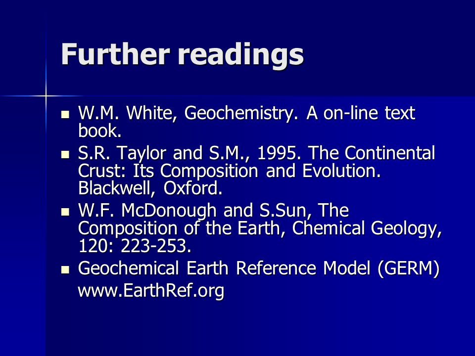 Goldschmidt ' s classification of elements