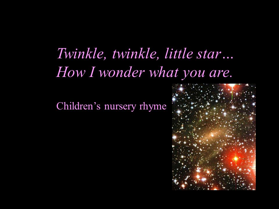 Twinkle, twinkle, little star… How I wonder what you are. Children's nursery rhyme