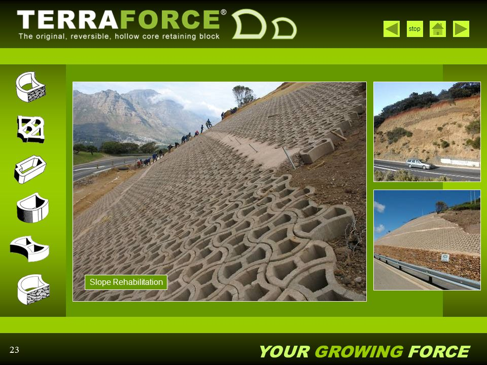 YOUR GROWING FORCE stop 23 Slope Rehabilitation