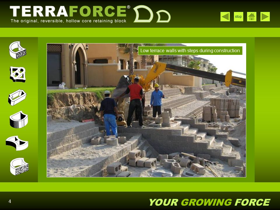 YOUR GROWING FORCE stop 25 Terracrete – parking area with partial grass cover