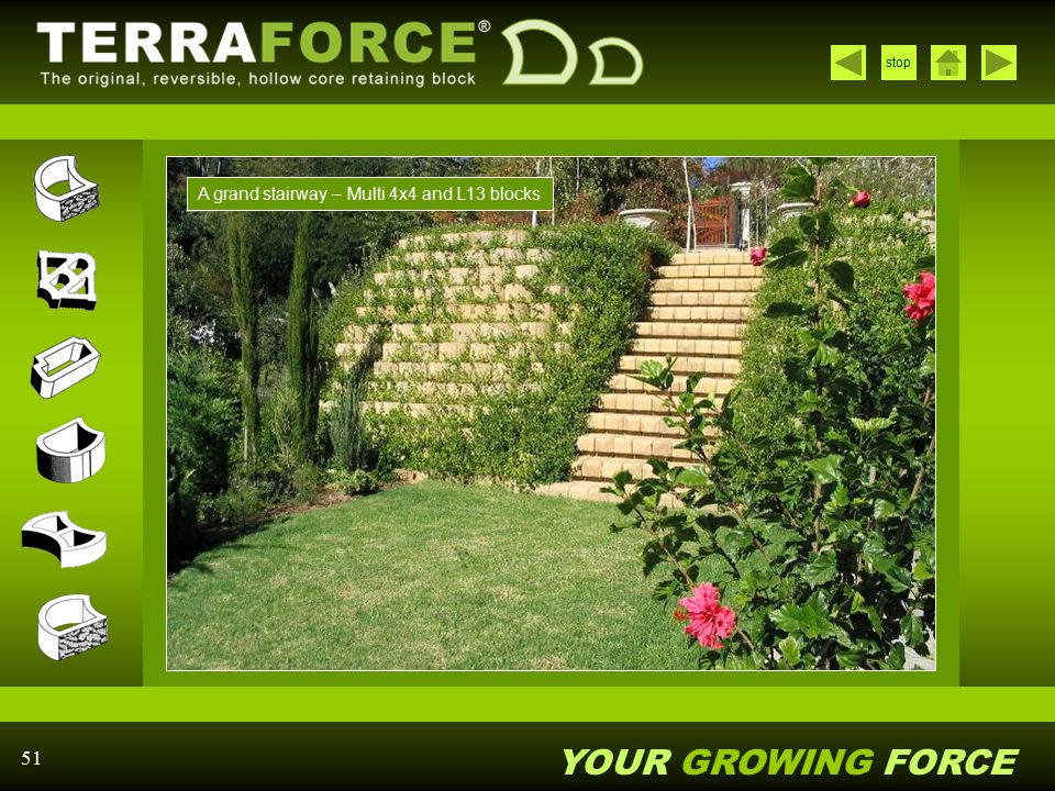 YOUR GROWING FORCE stop 51 A grand stairway – Multi 4x4 and L13 blocks