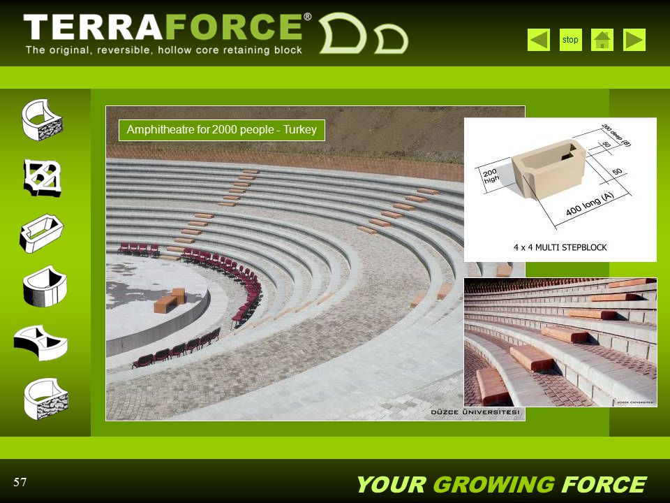 YOUR GROWING FORCE stop 57 Amphitheatre for 2000 people - Turkey