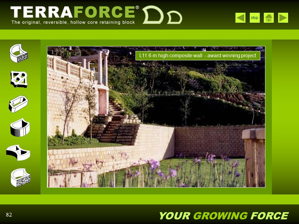 YOUR GROWING FORCE stop 82 L11 6 m high composite wall - award winning project