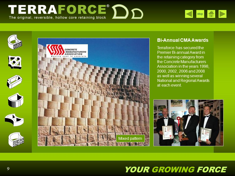 YOUR GROWING FORCE stop 40 Low wall with Terralite