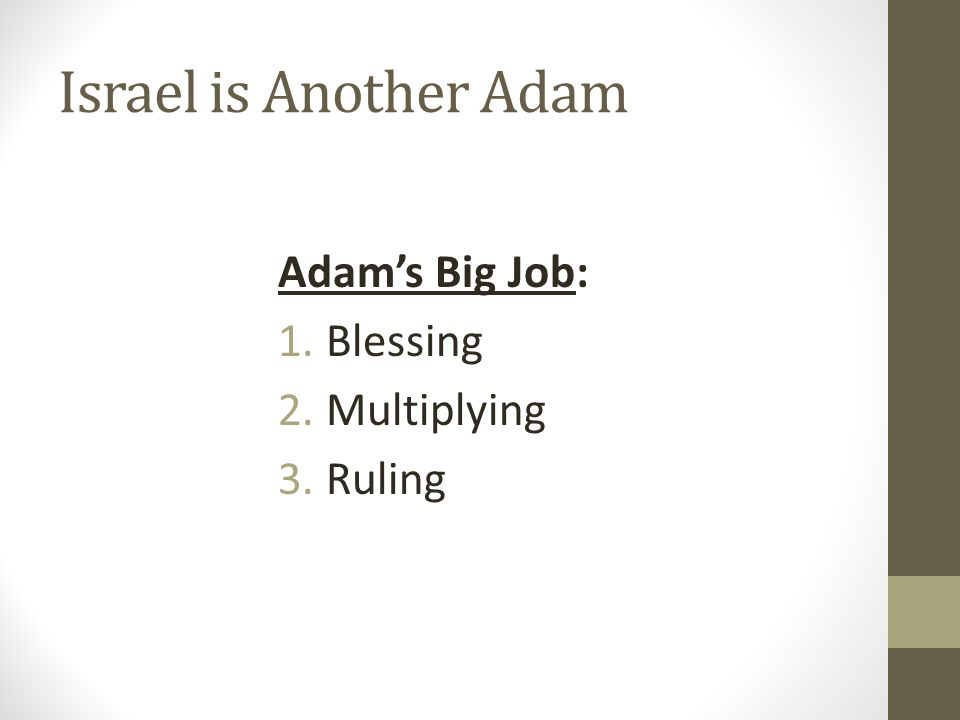 Israel is Another Adam Given to Adam: And God blessed them.