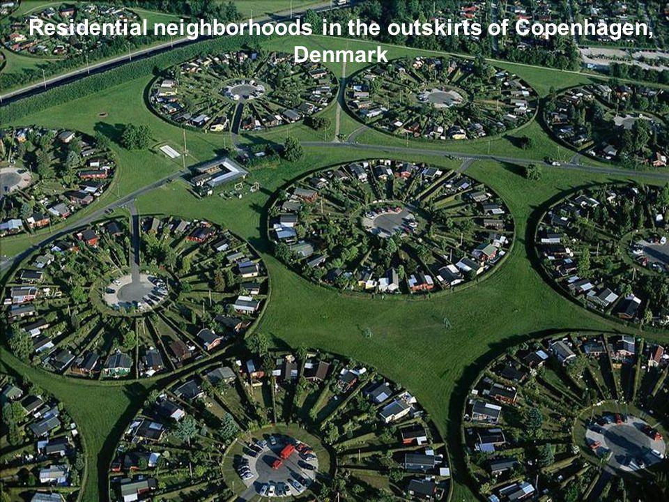 Residential neighborhoods in the outskirts of Copenhagen, Denmark