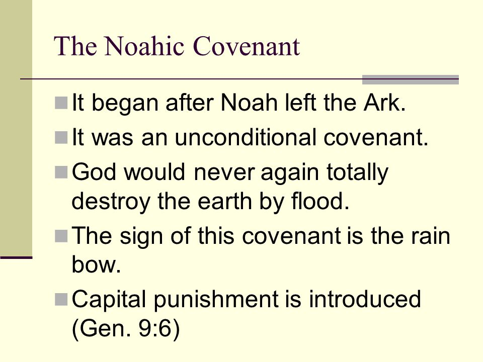 The sign of this covenant is the rain bow.Seasons (winter, fall, summer & spring) would continue.