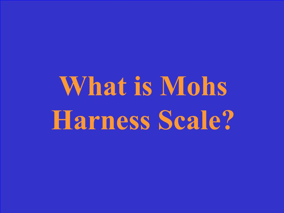 What is Mohs Harness Scale?