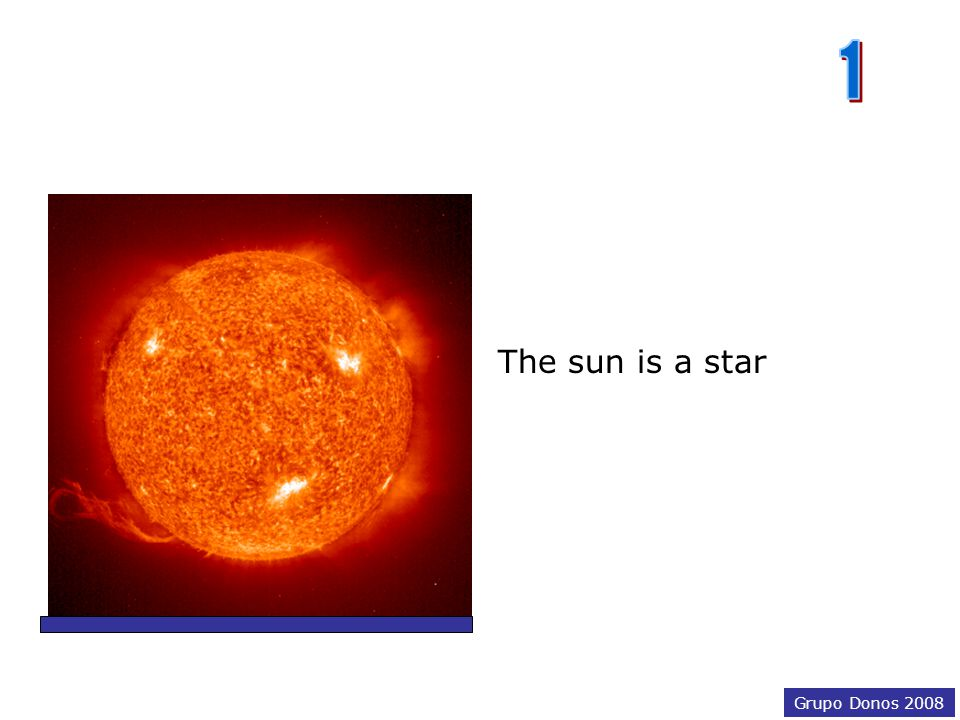 Grupo Donos 2008 The sun is… a comet an asteroid a star Choose the correct answer