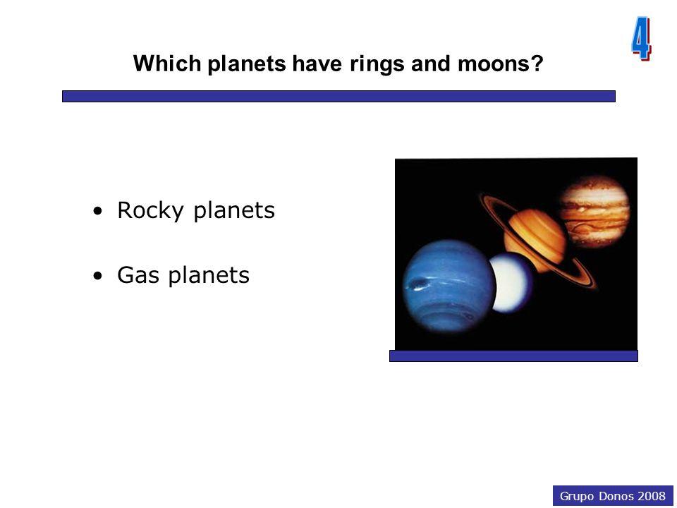 Grupo Donos 2008 Rocky planets MercuryVenus Earth Mars